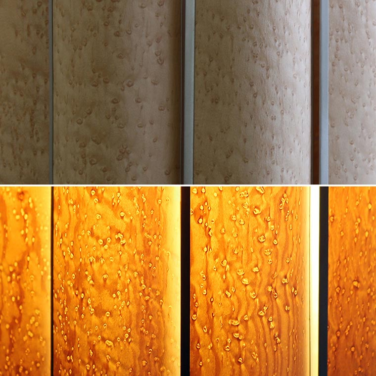 Slatewood Arc Birdseye Maple Noend Designs